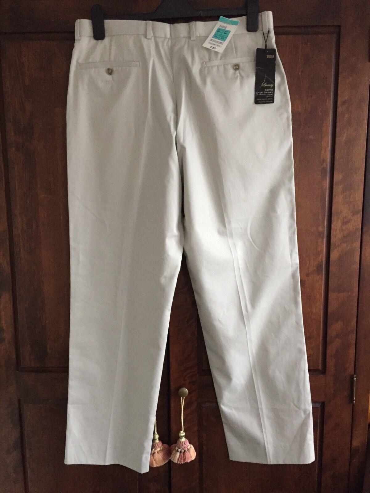M&S Supima Cotton Trousers (34inch waist 31inch inside leg).