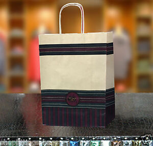 PAPER CARRIER BAGS TWISTED HANDLE QUALITY GIFT BOUTIQUE POLO