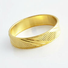 Girls Mens 24K Solid Yellow Gold Filled Band Couple Ring Size 10 Free Shipping