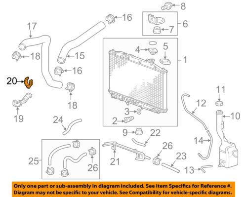 HONDA OEM Radiator-Lower Hose Clip 19519RGLA00