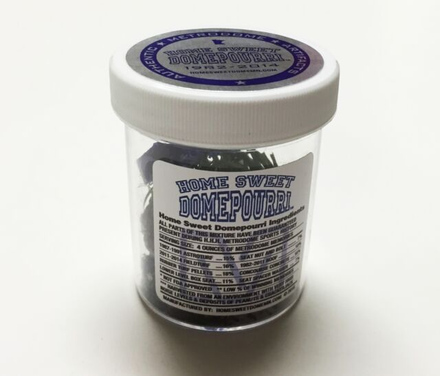 HOME SWEET DOMEPOURRI 4 OUNCE ACRYLIC JAR OF AUTHENTIC HHH METRODOME ARTIFACTS