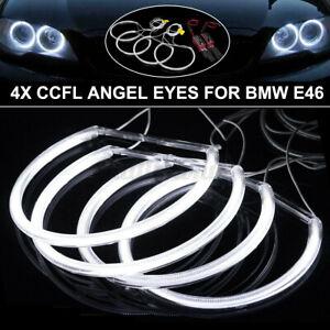 4x CCFL Angel Eyes Standlichtringe Für BMW E46 Projektor Lampe 146mm+131mm