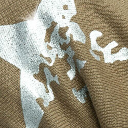 CASPAR Damen Herren warme gefütterte BEANIE Mütze Winter mit Stern Print