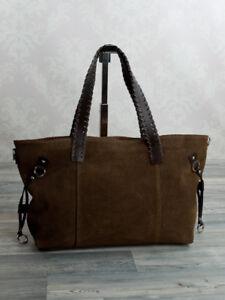 a512566c6d9b6a Das Bild wird geladen Ital-Schultertasche-Ledertasche-Shopper-XL-Damentasche -ECHT-LEDER-