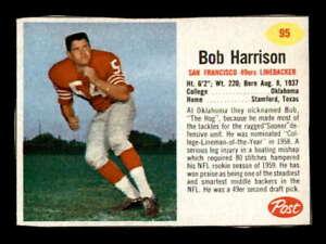 Details about 1962 Post #95 Bob Harrison EX/EX+ X1578918