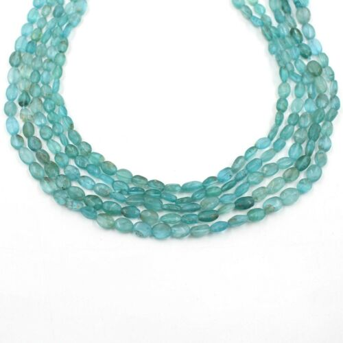 Natural Apatite Smooth Oval Shape Gemstone Loose Jewelry Making Beads Strand AA+