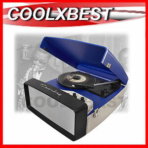 NEW-CROSLEY-COLLEGIATE-RETRO-TURNTABLE-RECORD-PLAYER-USB-ENABLED-AUX-IN-BLUE