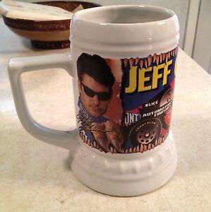 Original JEFF GORDON 1997 JURASSIC PARK THE RIDE NASCAR DRINK MUG CERAMIC