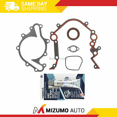 Timing Chain Kit Oil Pump Cover Gasket for 90-04 Ford F150 Mustang 3.8 3.9 4.2