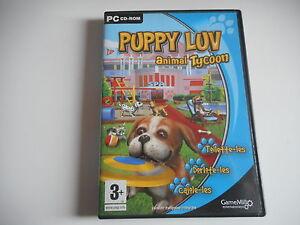 PC-CD-ROM-PUPPY-LUV-ANIMAL-TYCOON-Toilette-les-Dorlote-les-Cajole-les