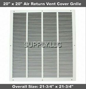 20x20-034-Air-Return-Vent-Cover-Duct-Size-Grille-Steel-Wall-Sidewall-Ceiling-White