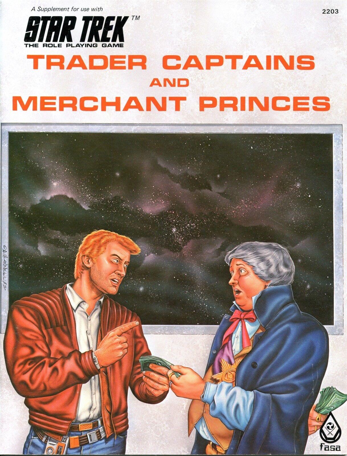 STAR TREK TRADER CAPTAINS AND MERCHANT PRINCES 2203 FASA RPG EXC+