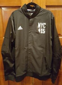 af38e551be5 ADIDAS 2015 NYC NBA All Star Game Warm Up Black Button Jacket Size ...