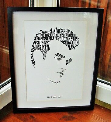 artwork There Is A Light Morrissey Marr framed song lyrics The Smiths