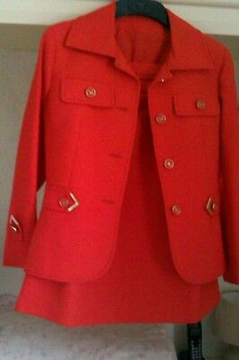 Audace Vntage 1970s Vestito Rosso-mostra Il Titolo Originale