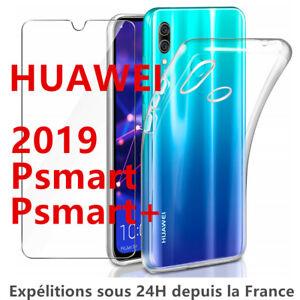 HUAWEI P SMART PLUS 2019 P SMART Z COQUE + FILM VITRE VERRE TREMPE ETUI HOUSSE