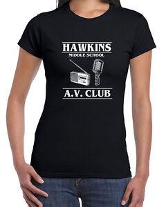 538 Hawkins Middle School Av Club Womens T Shirt Stranger Tv Show