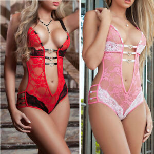 2f624c807fa Image is loading Womens-Sissy-Lace-Lingerie-Babydoll-G-String-Thong-