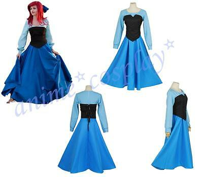 Cartoon The Little Mermaid Ariel Mermaid Princess Ariel Dress cosplay costume