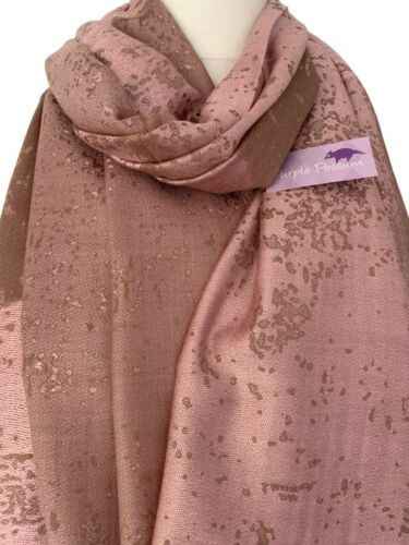Pink Scarf Ladies Brown Beige Shawl Large Wrap Oversized Wedding Prom