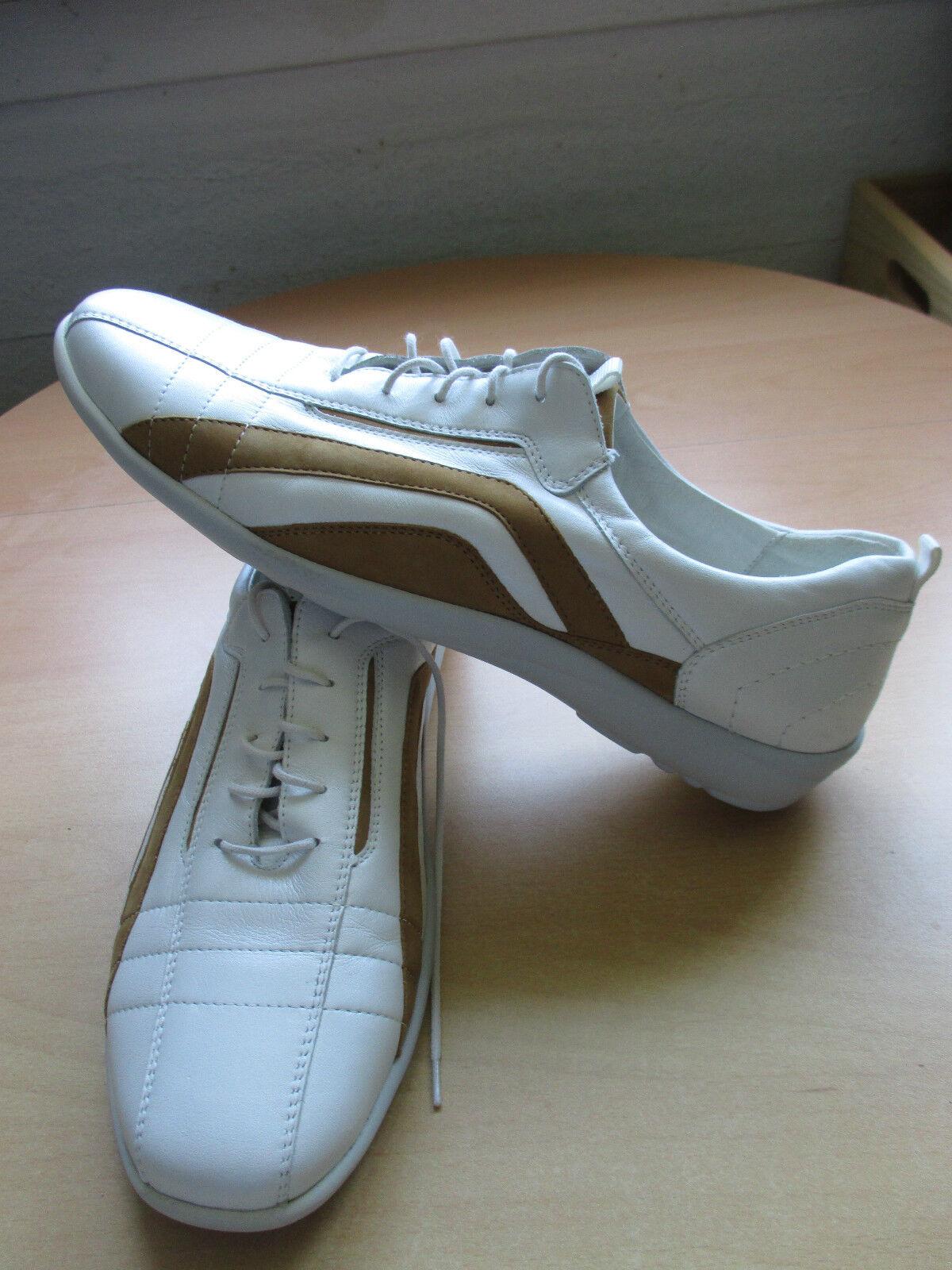 NUOVO alfiere foresta foresta foresta SCARPE DA DONNA scarpe da ginnastica LACCI TG. 7-41 G Bianco Cognac ZZ daac54