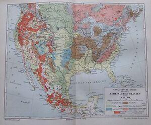 Mexiko Staaten Karte.Details Zu 1897 Geologische Karte Vereinigte Staaten Mexiko Alte Karte Old Map