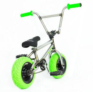 MINI-BMX-MINI-ROCKER-Trick-Bike-Dirt-Monkey-Bike-Stunt-Bike-3-Piece-Cranks-GREEN