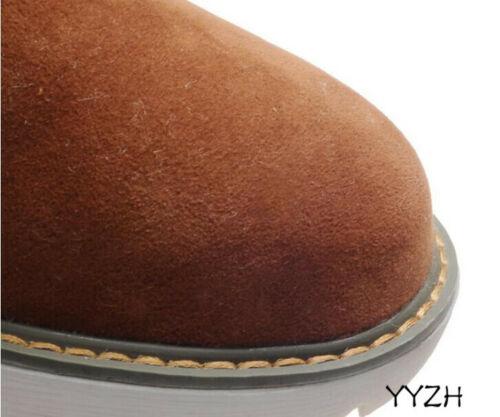 New Women/'s Court Bottes Hiver Chaud Artificiel Doublure en peluche Plates Décontracté Chaussures
