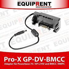 Pro-X GP-DV-BMCC Adapter für Pro-X XP-L70V / Switronix Powerbase Akku (EQD73)
