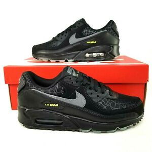 Nike Air Max 90 Halloween Spiderweb Athletic Shoes Mens Size 6.5 ...