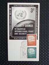 UNO NY MK 1957 SEC. COUNCIL MAXIMUMKARTE CARTE MAXIMUM CARD MC CM c5027