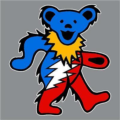 Grateful Dead Dancing Bear Printed Vinyl Decal Sticker For