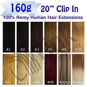 20 premium clip in remy human hair extension black brown