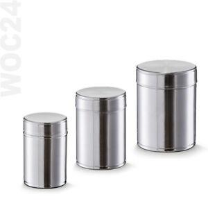 Vorratsdosen-Vorratsbehaelter-Edelstahl-Vorratsgefaess-Deckel-Kaffeedose-Teedose