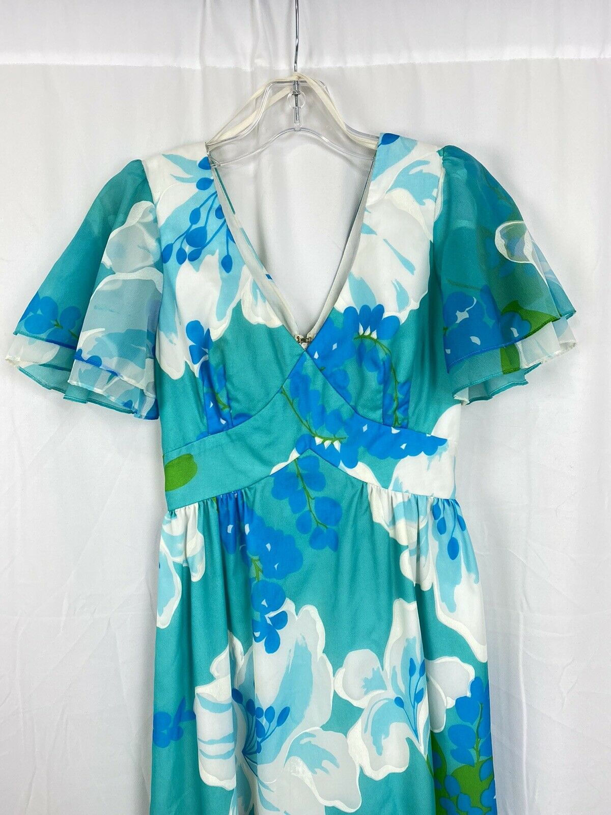 Vintage 60s Malia Honolulu Dress Size 8 Empire Wa… - image 3