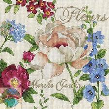 Cross Stitch Kit Design Works Marche Jardin French Garden Flower Sampler #DW2849