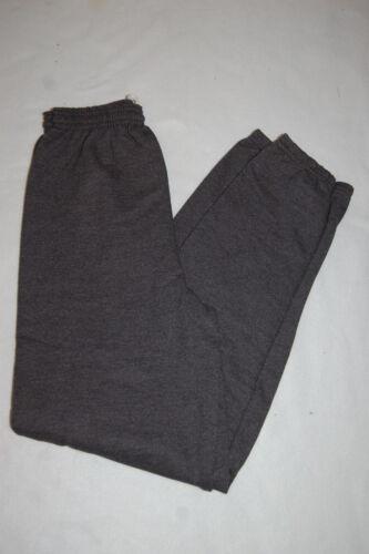 Mens Sweat Pants CHARCOAL GRAY Cinched Leg HANES No Pockets S M L XL 2X