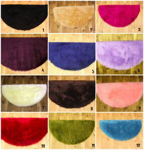 Washable Sheepskin Rug Half Moon Soft Pile Faux Fur