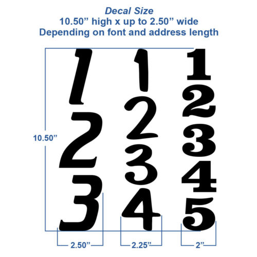 #1231R single Reflective Address Numbers Vertical