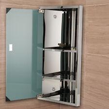 Stainless Steel Bathroom Corner Wall Mirror Cabinet 600x300mm Ebay