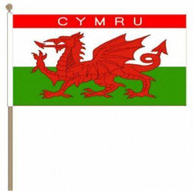 12 Stück Cymru (wales) (22.9cm X 15.2cm) Hand Winkfahne