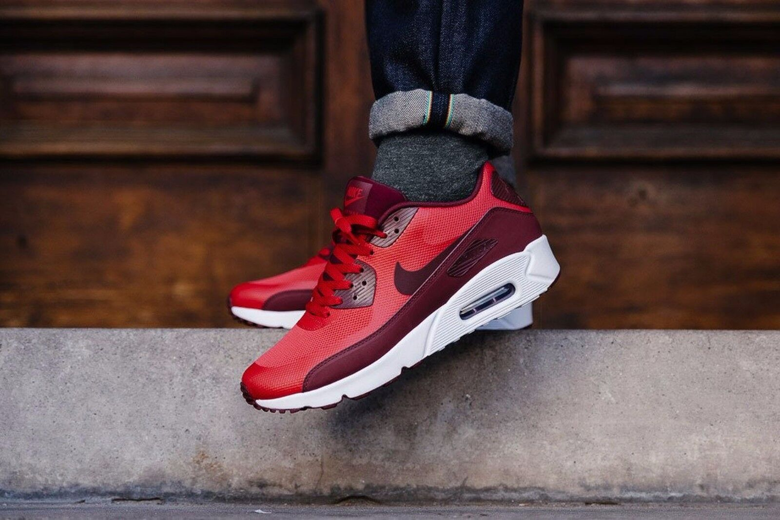 NIKE AIR MAX ULTRA 90 ULTRA MAX 2.0 ESSENTIAL 875695 600 UNIVERSITY RED/TEAM RED Mens Sz 9 2e78f1