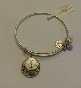 00a2da3f99a313 Alex And Ani Love Birds Heart Charm Bangle Bracelet BOX NWT BOX ...