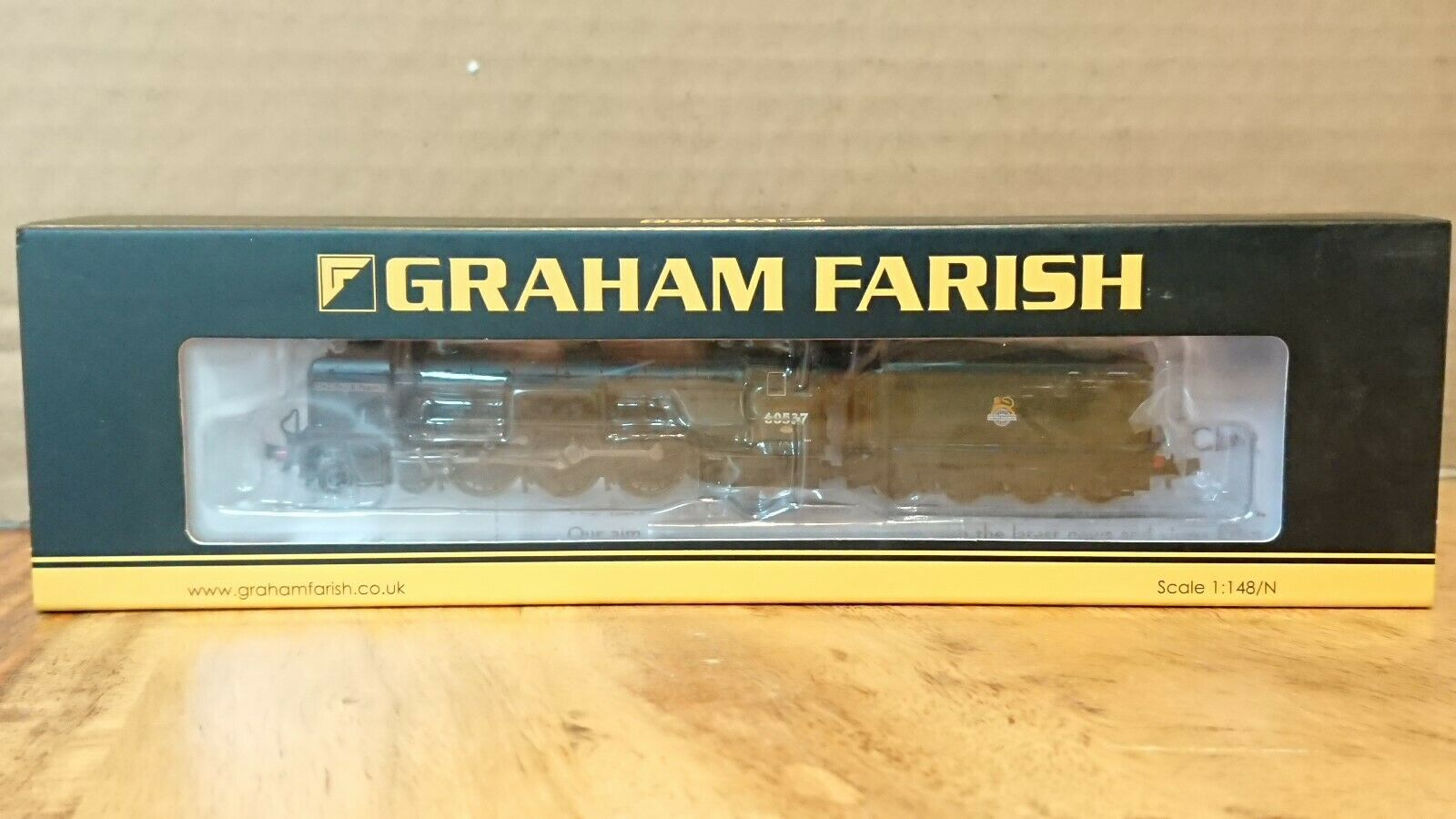 Graham Farish N Gauge 372-386 A2 60537 Batchelors Button BR Early Green 6DCC NEW