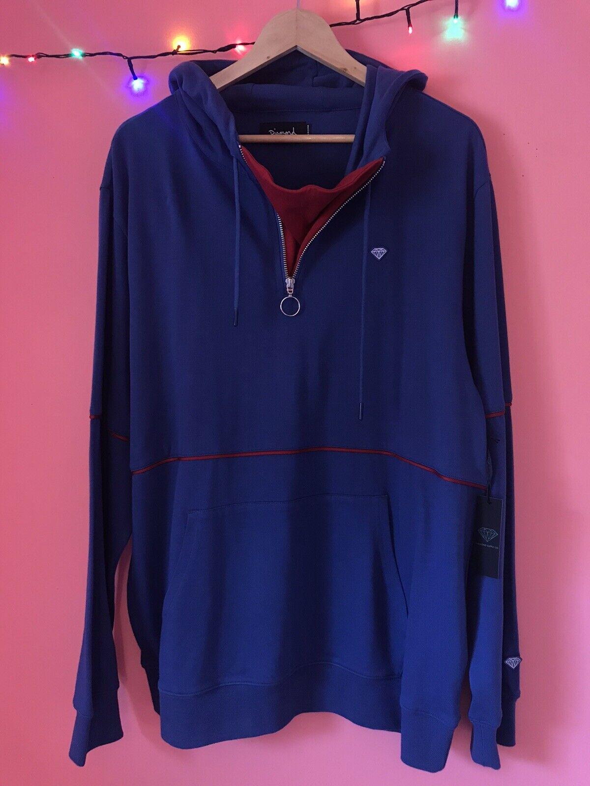 Diamond Supply Co Hoodie XL Men's Blue/Red