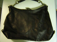 J.Crew  Black Leather HoBo Purse With Brushed Nickle Hardware