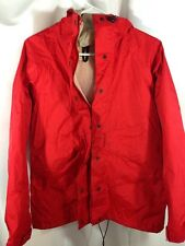 VTG LL Bean Gore-Tex Red Hooded Womens Rain Packable Jacket - Made in USA - Sz M