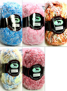 Details about Dark Horse Yarn Spring Bulky Eyelash Boucle 100g Color Choice  Loom Knit Crochet