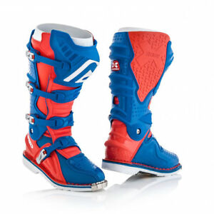 2018 ACERBIS X MOVE 2.0 BOOTS RED BLUE