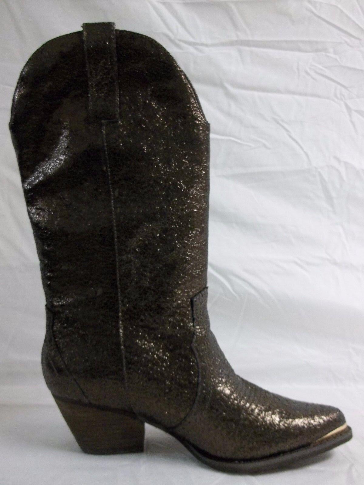 Reba Size 7.5 M Biker Brown Leather Mid Calf Cowboy Cowboy Cowboy Boots New Womens shoes NWOB 187f25